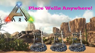 Ark Glitch - How To Place Water Wells Anywhere on Ark!  - Ark Survival Evolved Glitch