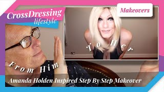 Crossdressing Makeover Amanda Holden inspired look | Male to Female Makeup Tutorial Step By Step fab