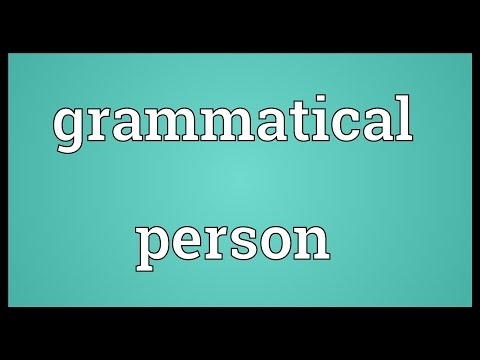 Grammatical person Meaning