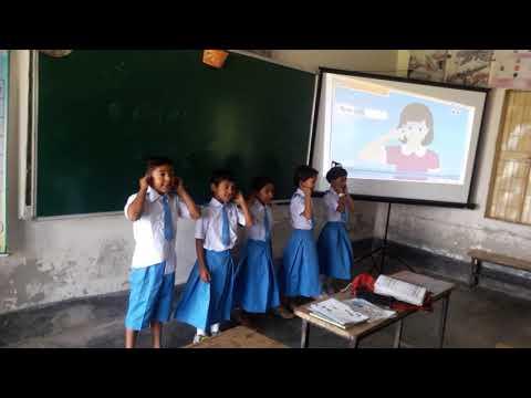 Teachig grade 2 student by using multimedia.