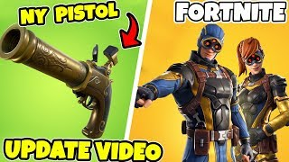 NEW FLINT-KNOCK PISTOL IN FORTNITE * UPDATE VIDEO * NEW SUPER HEROES LIKE SKINS