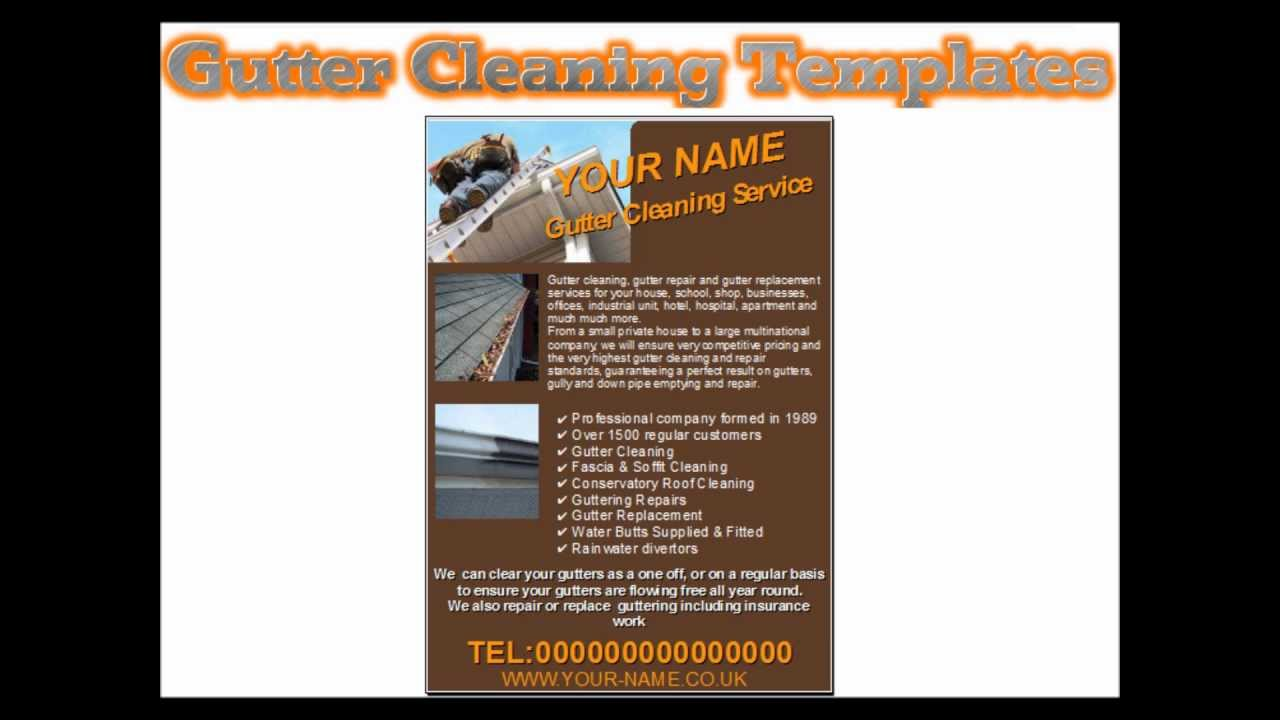Gutter Cleaning Flyers Youtube