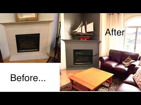 Part 3. Inexpensive Fireplace Fix. Living Room Makeover.