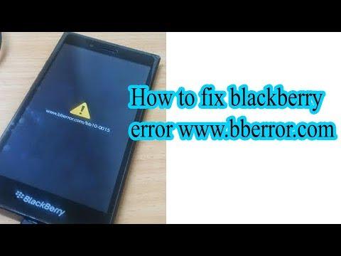How to fix blackberry error www.bberror.com bb10-0015  || Blackberry www.bberror.com/bb10-0020
