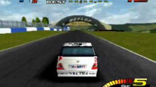TOCA Touring Car Championship (PS1) Secret Car: White Vauxhall Vectra
