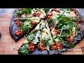 BLACK AS NIGHT VEGAN POMODORO E ARUGULA GOURMET PIZZA  COOK WITH ME VLOG  Connie's RAWsome kitchen