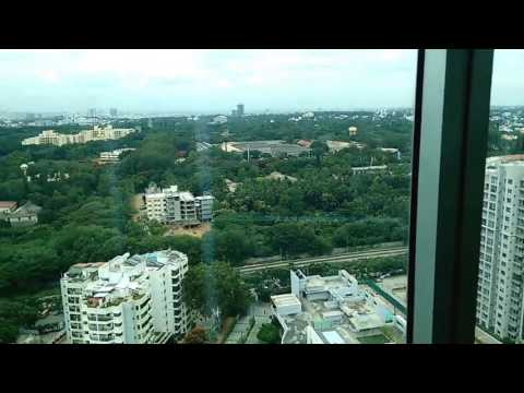 Bangalore view from World Trade Center's Lift