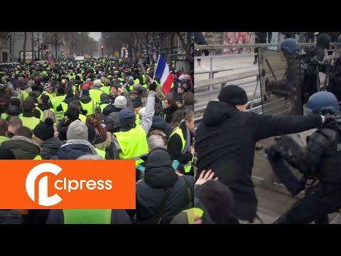 Gilets jaunes Acte 8 : incidents et tensions (5 janvier 2019, Paris) [4K]