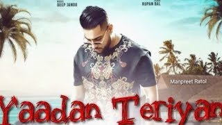 Yaadan Teriyan Karan Aujla Free MP3 Song Download 320 Kbps