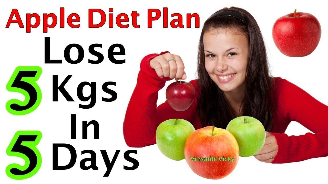 Apple Diet Plan For Weight Loss | Lose 5 Kgs in 5 Days