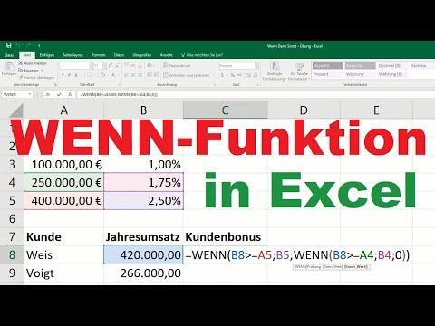 Excel Wenn Funktion - Wenn Dann Funktion [verschachtelt, mehrere Bedingungen, Formel, Sonst]