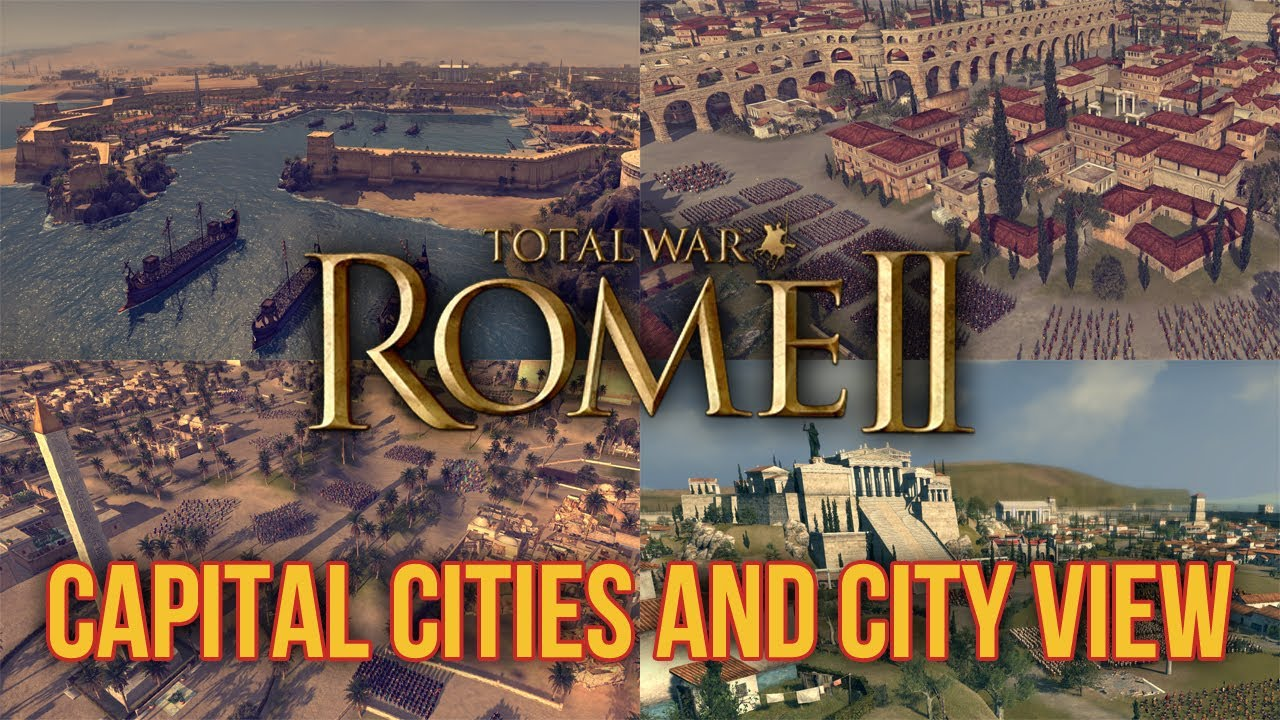 Total War Rome II Capital Cities And City View Information - Rome total war map city locations