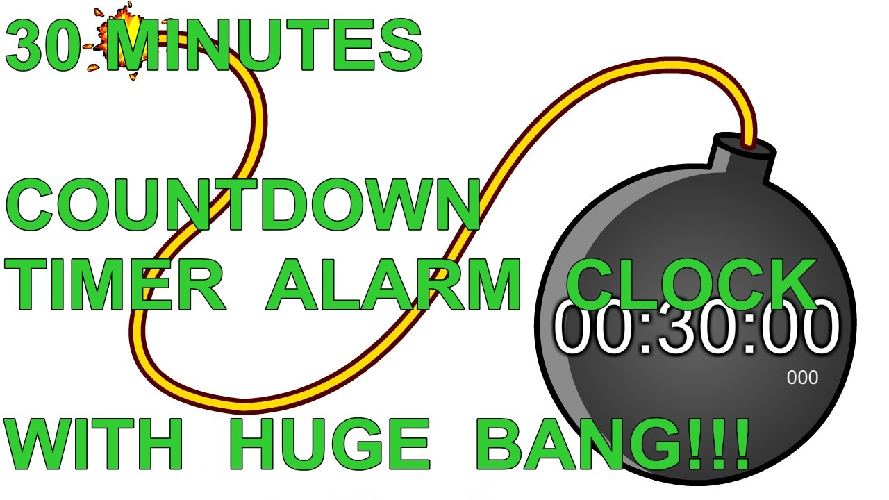 Redigitt 059 30 Minutes Countdown Timer Alarm Clock With Huge Bang You