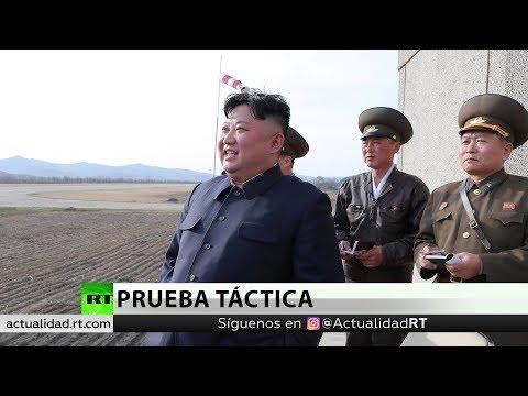 Corea del Norte prueba una nueva arma guiada táctica.