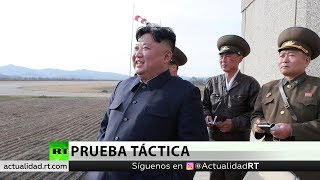 Corea del Norte prueba una nueva arma guiada táctica