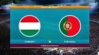 HUNGARY vs PORTUGAL UEFA EURO PES 2021 Gameplay PC