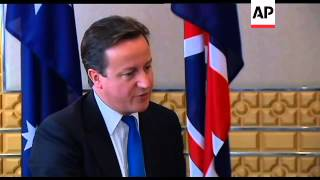 UK PM Cameron comment on world economy