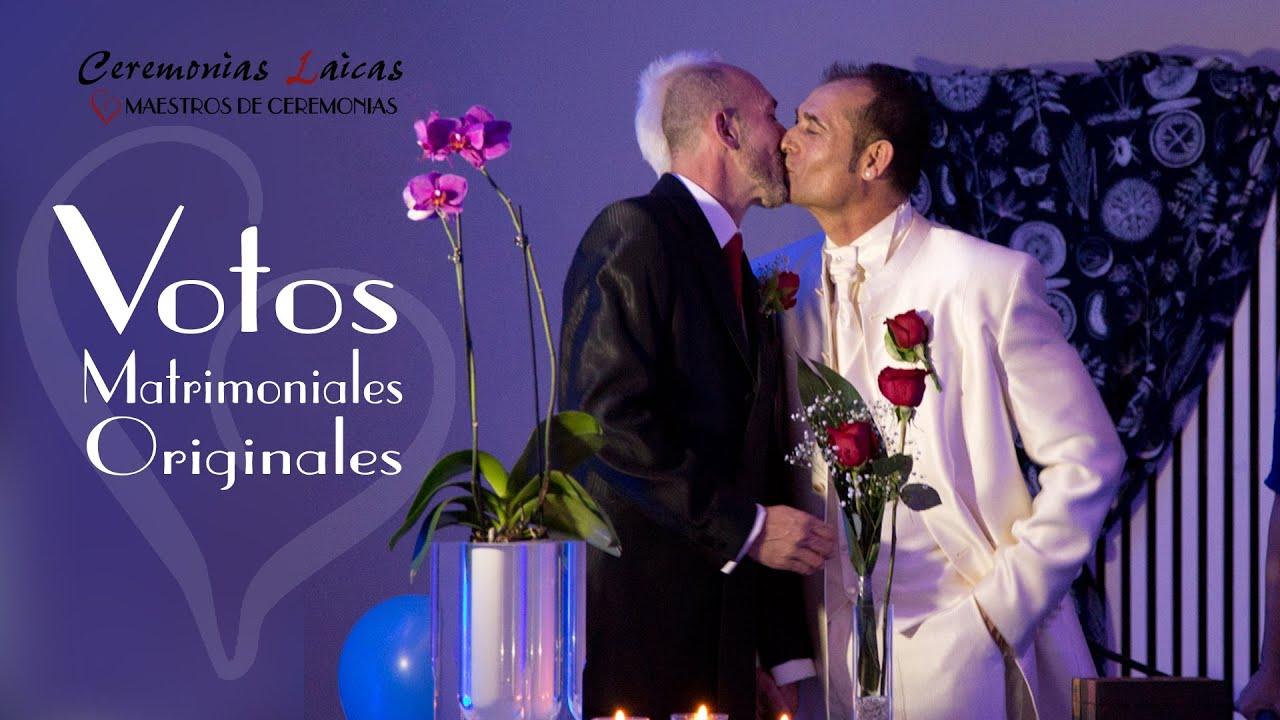 Votos Matrimoniales Originales. Videos de Bodas Civiles de Ceremonias Laicas