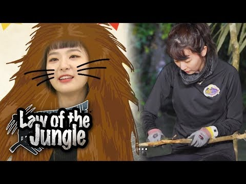 Seul Gi Dishevels Her Hair Then Ties it Law of the Jungle Ep 321