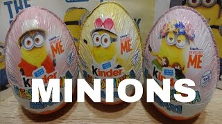 Minions Despicable Me 3 Kinder Maxi Surprise Eggs Opening Minions Movie #129