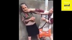 A mourrir de rire bagarre entre deux mamies