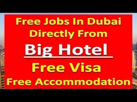 Dubai New Big Hotel Jobs With Free Visa & Free Accomodation Apply Now | Hindi Urdu |
