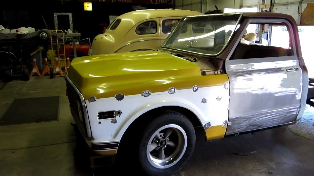 1971 C10 Project Chop Top with Independent Rear Suspension - YouTube