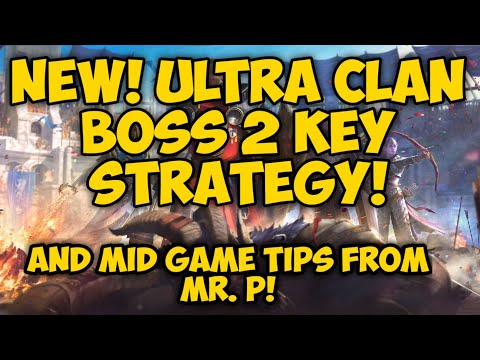 Raid Shadow Legends - New Ultra Clan Boss 2 Key Strategy Part 1 (mid game applicable tips from MrP)