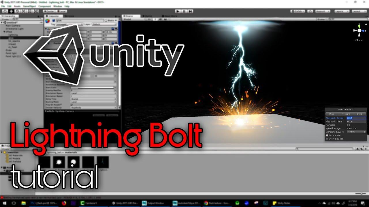 ArtStation - Unity Lightning Bolt Effect Tutorial, Ashif Ali
