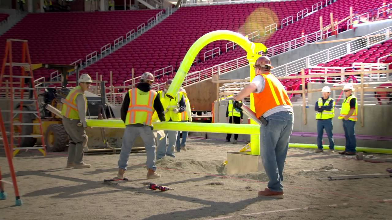 field goal posts installed for 49ers at levi u0027s stadium youtube