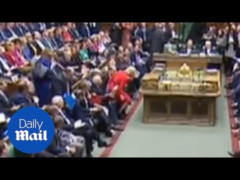 Hilarious moment Liz Truss accidentally sits on MPs in the Commons