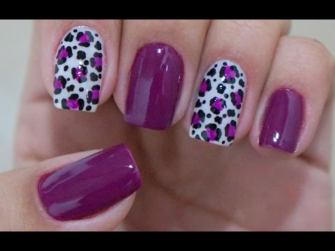 Decorated Nails Animal Print Easy to Make