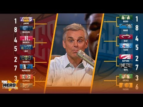 Colin Cowherd Fills Out His NBA Playoff Bracket | THE HERD
