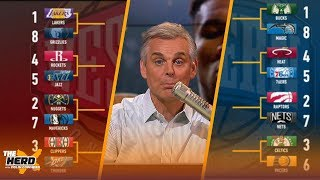 Download Colin Cowherd fills out his NBA playoff bracket | THE HERD Mp3 and Videos