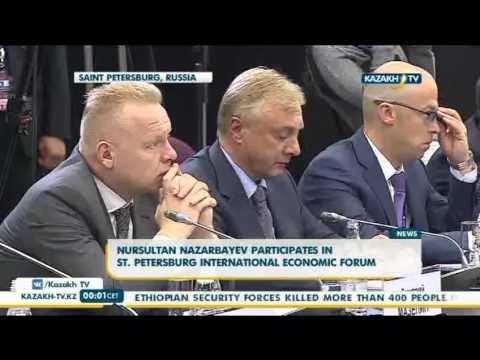 Nursultan Nazarbayev participates in St. Petersburg international economic forum - Kazakh TV