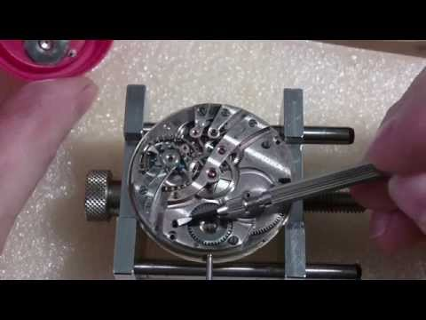 How I install a pocket watch mainspring, Howard