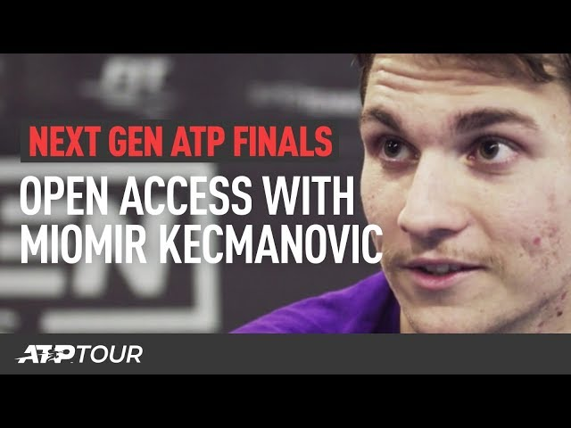 A Day In The Life Of Miomir Kecmanovic | Next Gen ATP Finals