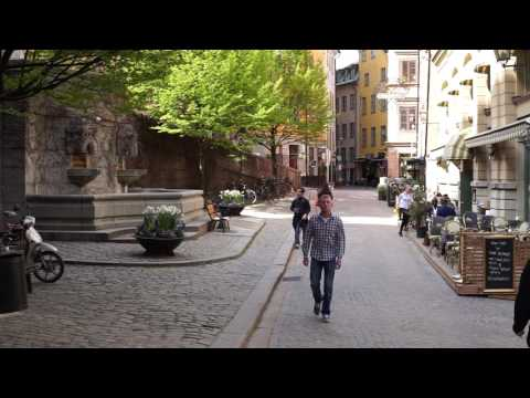 Sweden, Stockholm, walking from Slussen to Tyska Kyrkan in Old Town