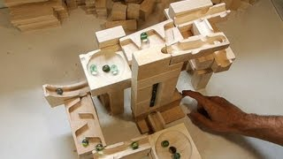 A few tracks built with the marble run blocks