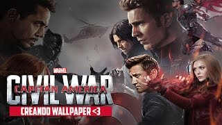 Captain America CIVIL WAR Creando un Wallpaper HD (Procedimiento)