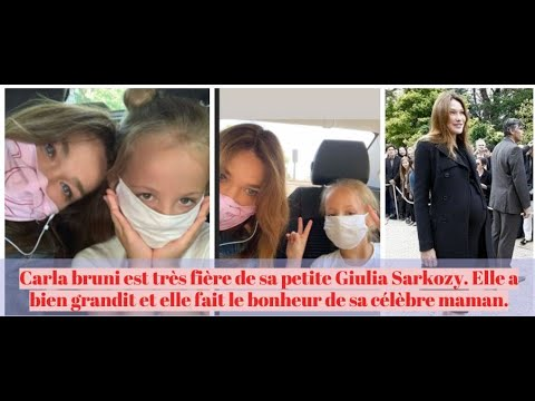 Carla bruni est très fière de sa petite Giulia Sarkozy. Elle fait le bonheur de sa célèbre maman.