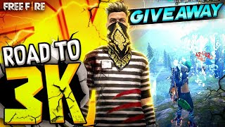 FREE FIRE LIVE   ROAD TO 3K   OPPO RENO 6 PRO GIVEAWAY #TBG
