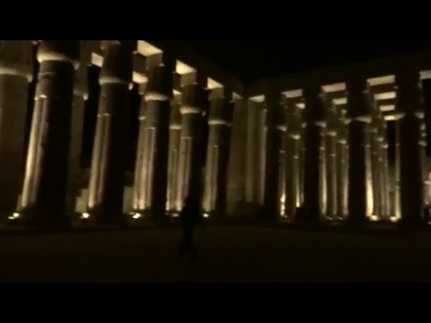 Exploramum and Explorason visit Luxor at Night EGYPT and it is stunning