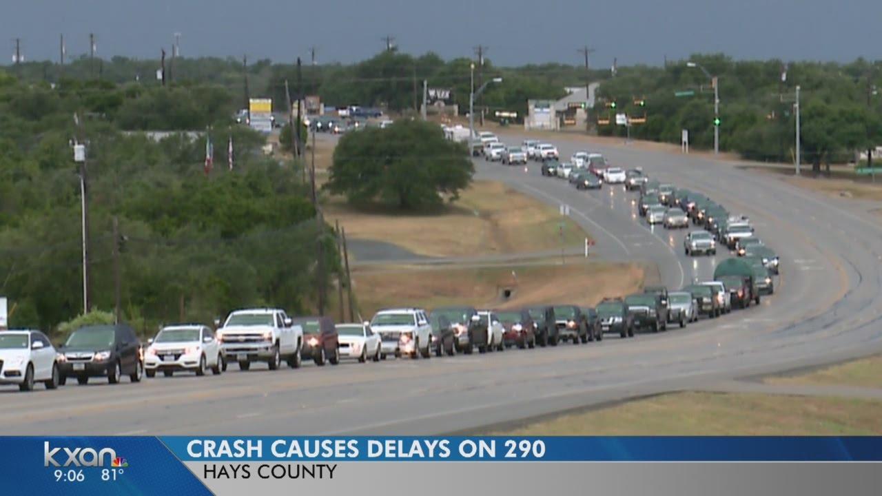 Crash snarls traffic on US 290 between Dripping Springs, Cedar Valley
