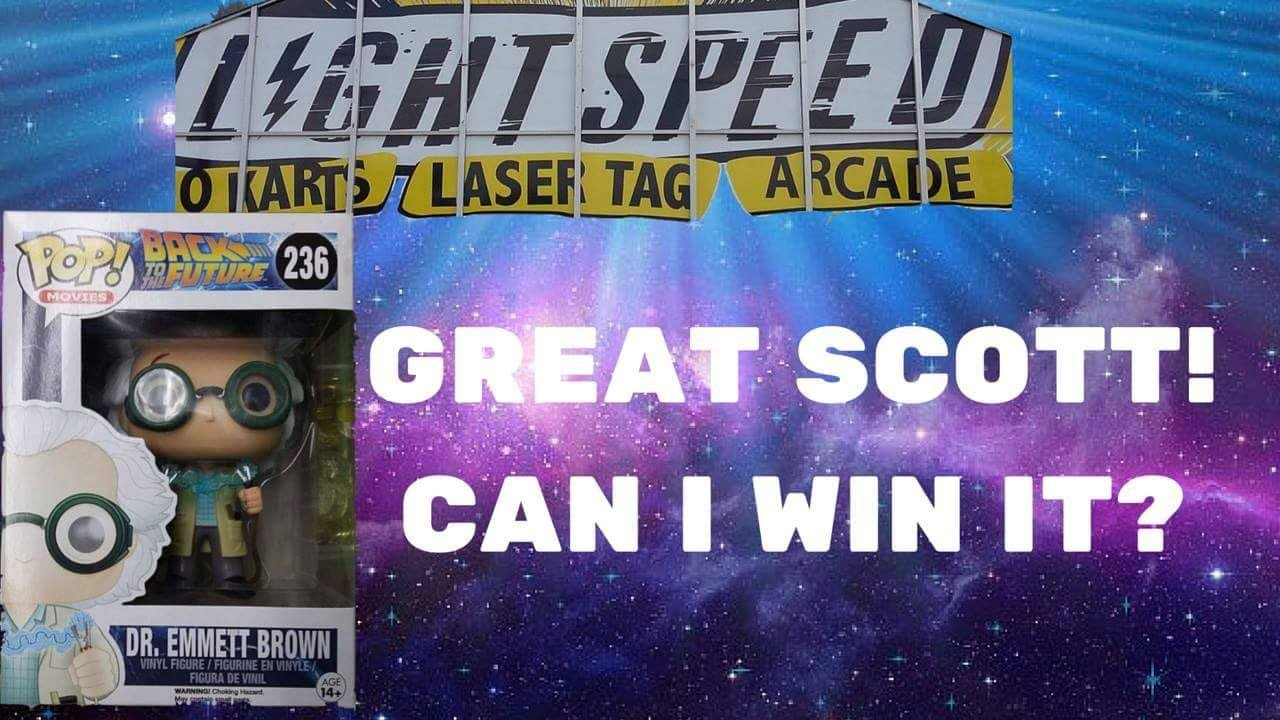 Light Speed Arcade In Milwaukee Can I Win Doc Brown Pop Figure??  Arcadejackpotpro Pictures Gallery