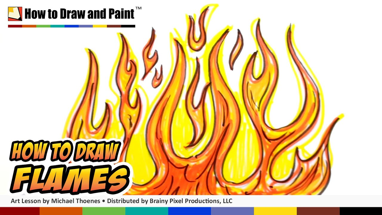 How To Draw Flames Graffiti Fire Drawing Lesson Art