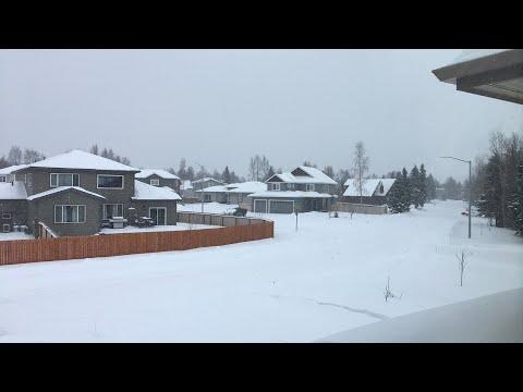 Snowy Weather - Anchorage Alaska - February 26th 2018