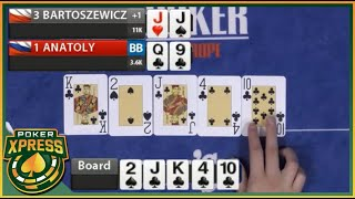 When you hit a STRAIGHT FLUSH! - A poker video