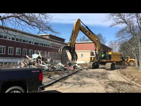 Memorial Building demolition, Beverly, Mass.