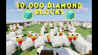 Guess The Number Oḟ Chickens, Win Full Inventory Of Diamond Blocks | Minecraft